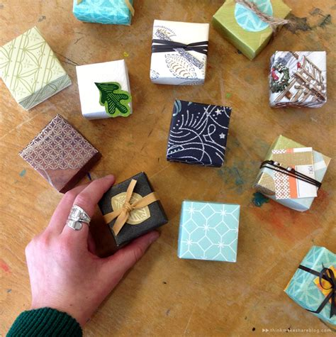 How To Make A Small Gift Box Out Of Paper - learn to make tiny gift boxes out of last year s greeting