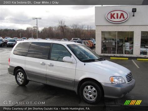 2003 Kia Sedona Ex Clear White 2003 Kia Sedona Ex Gray Interior