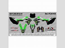 Kit Grafico para KXF 250 - ano 2013 a 2014 - Réplica ... Kawasaki 250f