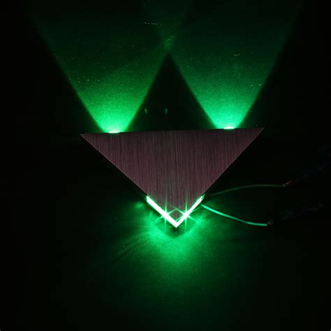 triangle wall light led 3w led triangle wall light sconce spot metal mood l