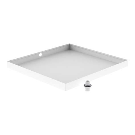 Washer Floor Tray by 30 In X 32 In White Washer Drain Pan