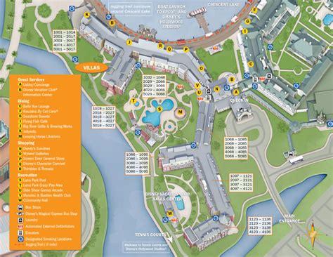 club resort map disney boardwalk villas