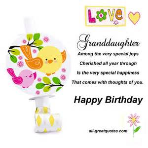 birthday cards for from granddaughter inspirational quotes for granddaughter birthday quotesgram