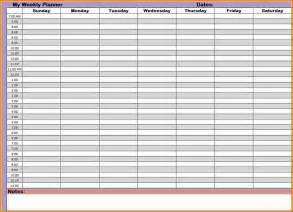 7 printable weekly calendar with hours authorization letter
