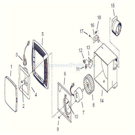 broan ventilation fan parts broan 683l parts list and diagram ereplacementparts com