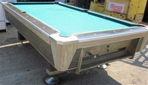 vintage fischer coin operated pool table ebay