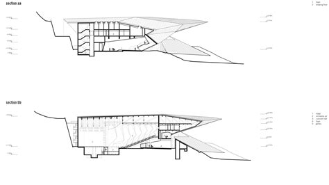 Sections Of The by The New Festival In Erl Austria By Delugan Meissl Uncube