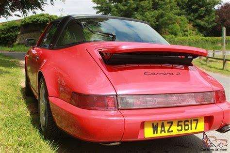 1990 porsche 911 red 1990 porsche 911 carrera 2 targa a red