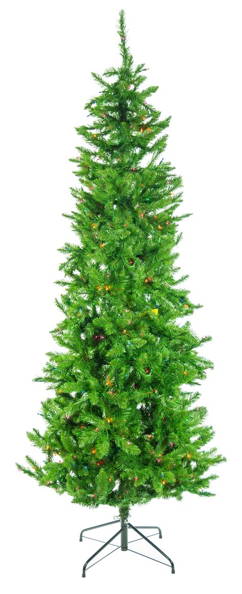 narrow tree with lights 7 5 pre lit narrow augusta pine tree multi color lights