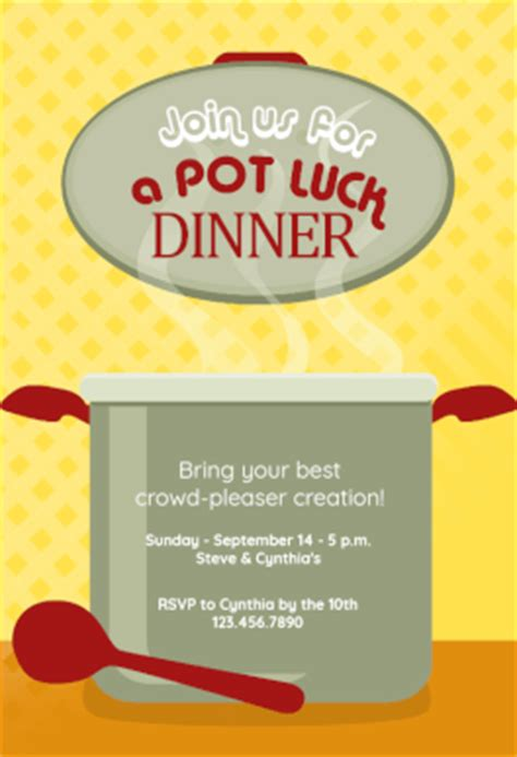 potluck flyer template potluck flyer template template design