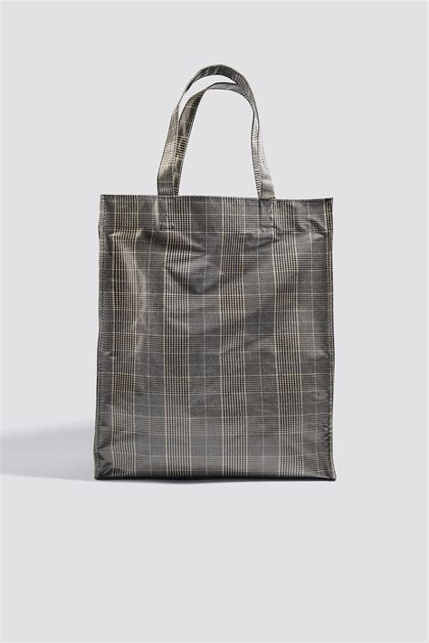 Check Shopper Bag check shopper bag grey na kd
