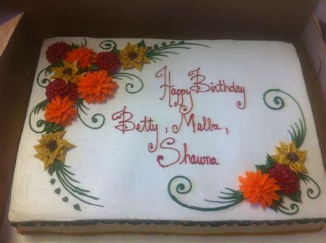 decorated fall cakes fall flowers birthday cake birthday cakes