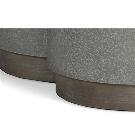 Grey Ottoman Coffee Table Robinson Industrial Loft Grey Shagreen Ottoman Coffee Table Kathy Kuo Home