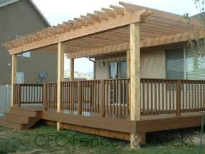 Wood Pergola by Deck Designs With Pergolas Deck Ideas
