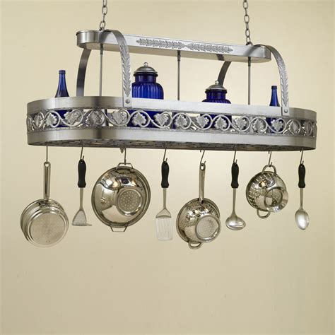 Kitchen Island Pot Rack Lighting Hi Lite Manufacturing H 83y D 21 Quot Pot Rack Kitchen Island Light Fixture Hlt H