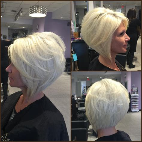 quick wevae angle bob layered angled bob by gia platinum blonde by