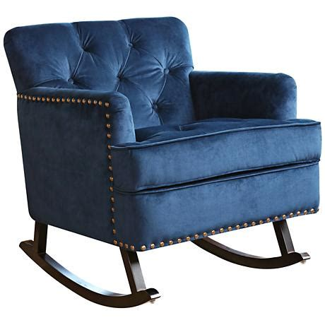 navy blue tufted chair clara navy blue velvet tufted rocker chair 9g846