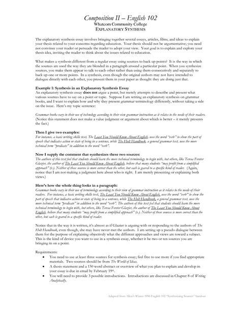 Explanatory Essay Topics by Explanatory Synthesis Essay Outline Grassmtnusa