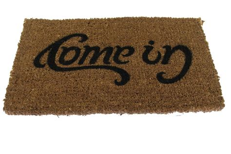 Welcome Go Away Doormat doormat come in go away quot ambigram quot
