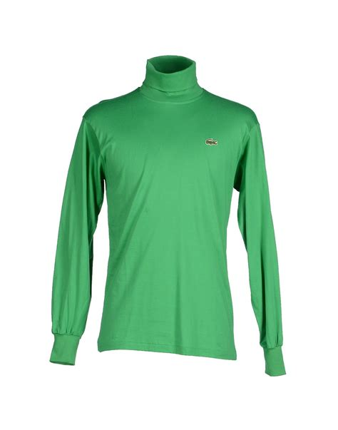 New Lacoste Navy And Green Tshirt For lyst lacoste t shirt in green for