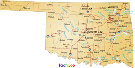 oklahoma counties map oklahoma state map with cities and towns pictures to pin on pinsdaddy