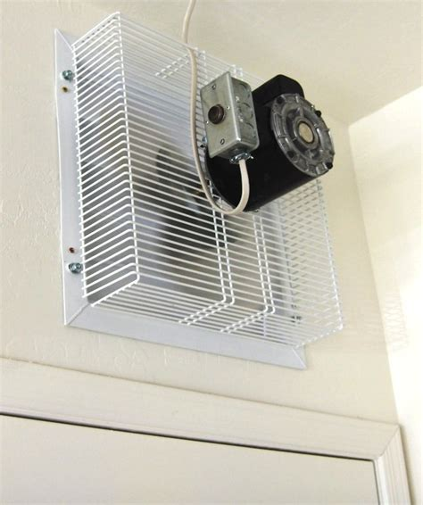 Garage Exhaust Fan Gft 16 Garage Fan Thru Wall Cool My Garage