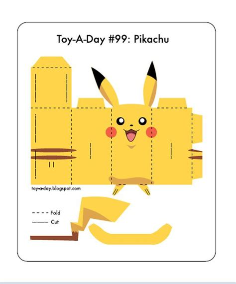 Pikachu Papercraft Template - paper crafts print