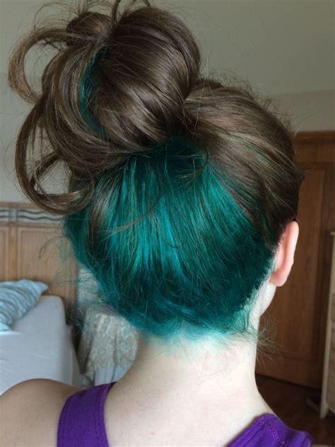 how to dye hair dark underneath best 25 blue hair underneath ideas on pinterest dyed