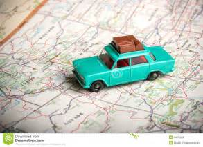 Vacation Rental House Plans toy car on a road map royalty free stock photos image