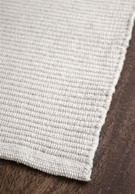 Wolldecke Baumwolle by Solid White Flatweave Eco Cotton Rug Hook Loom