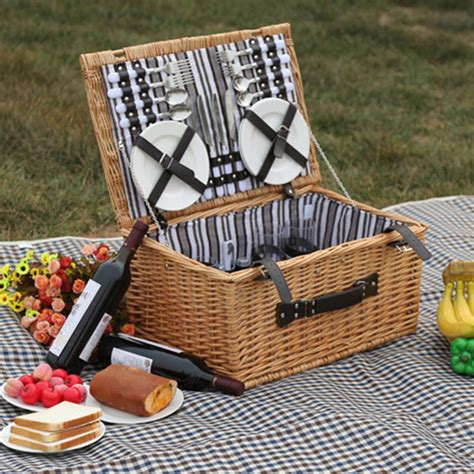 Handmade Picnic Baskets - outdoor willow picnic storage baskets handmade family
