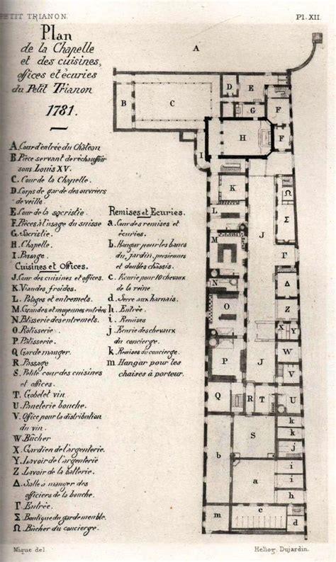 petit trianon floor plan plans du petit trianon