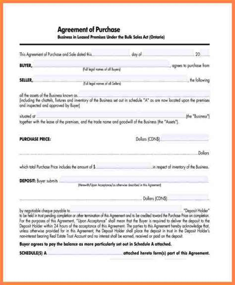 sle business purchase agreement 6 small business purchase agreement template purchase