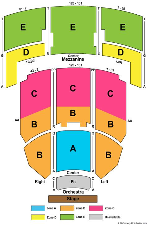 fillmore seating jackie gleason theater seating chart front row tickets
