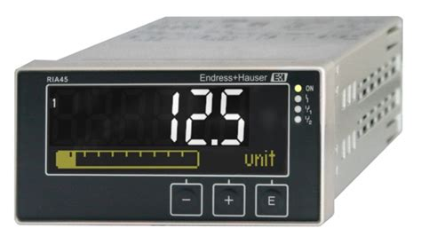 endress hauser ria45 panel meter ria45 with unit endress hauser