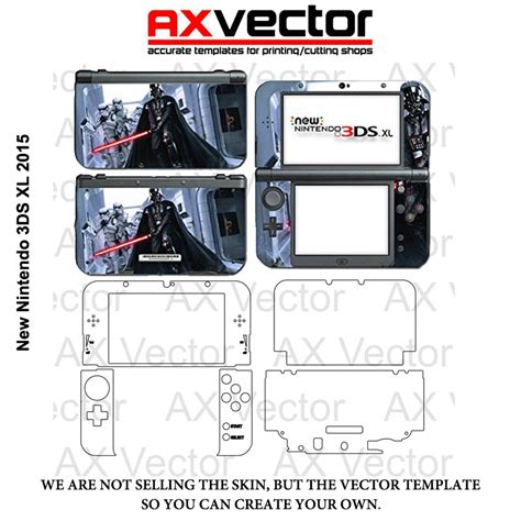 nintendo 3ds xl 2015 vector template accurate contour cut