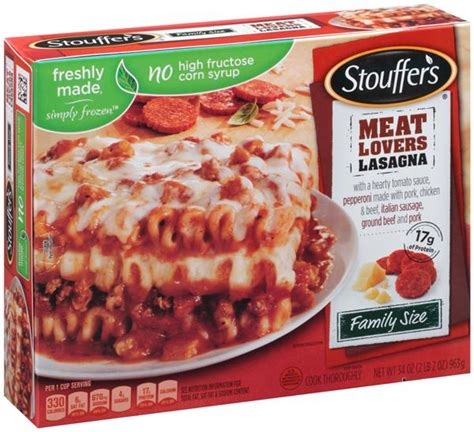Lasagna Beef Size Family stouffer s family size lasagna hy vee aisles grocery shopping