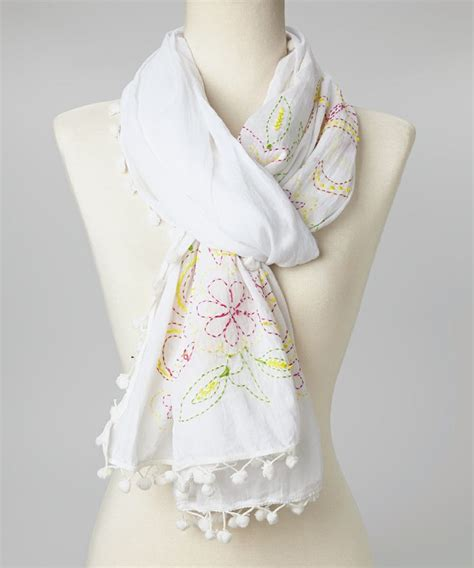 Scarves Import White 59 best images about scarves on floral scarf crochet scarfs and shawl