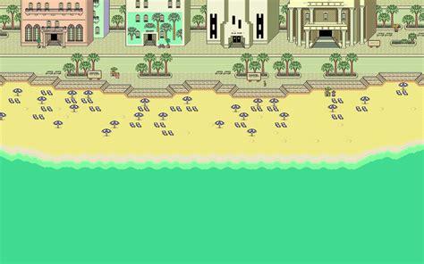 pixels beach pixel art earthbound wallpapers hd