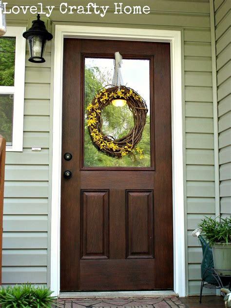 How To Stain A Fiberglass Door by Varathane Gel Stain Fiberglass Door