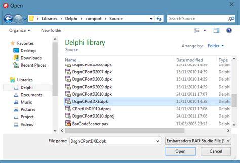 tutorial delphi xe español fajar priyadi tips install component comport di delphi