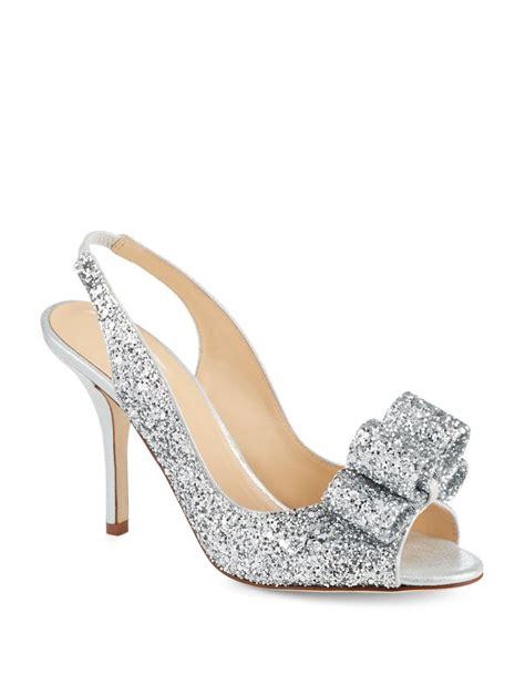 Charm Heels kate spade charm glitter heels in metallic lyst