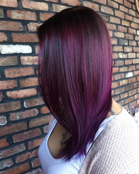plum hair color best 25 plum highlights ideas only on