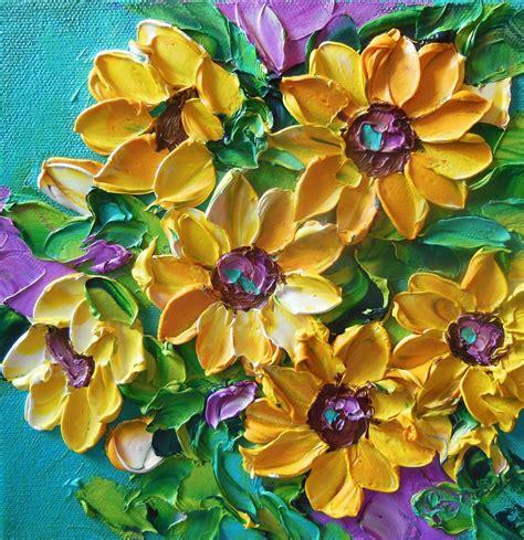 Salma Dress Ori By Alhamda painting impasto painting yellow sunflowers