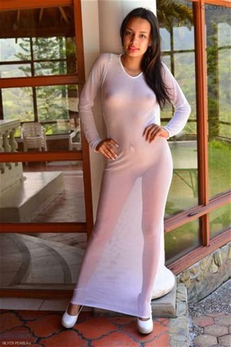 Silver Pearls Sabrina White Dress 1 » X Teenmodels