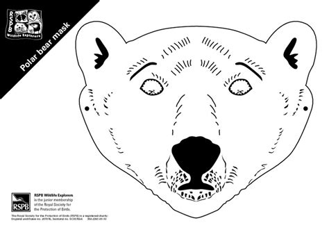 polar bear mask template printable pictures to pin on