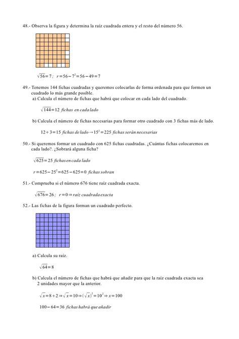 raiz cuadrada de 50 ejercicios resueltos potencias y ra 205 z cuadrada 1