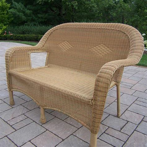 oakland living patio furniture oakland living resin wicker loveseat in honey free shipping