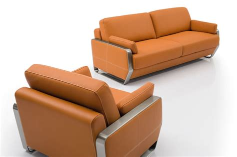 leather office sofa sofa with stainless hardware frame