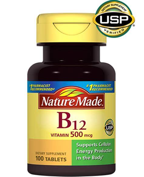 nature made vitamin b12 500 mcg tablet